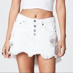 LF Carmar Helena White Denim Skirt